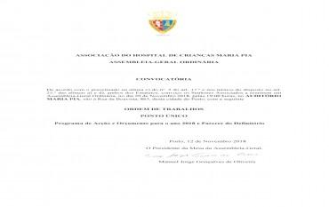 Convocatória Assembleia-Geral Ordinária