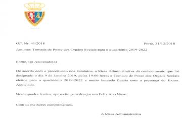 TOMADA DE POSSE PARA O QUADRIÉNIO 2019-2022
